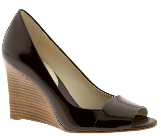 renee peep toe wedge
