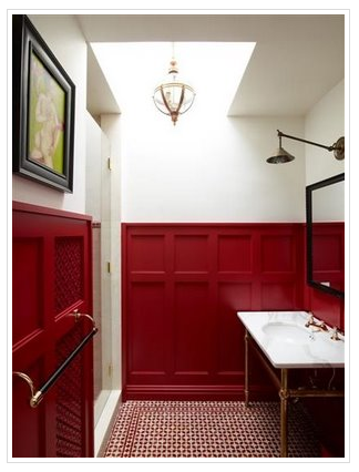 red paneling