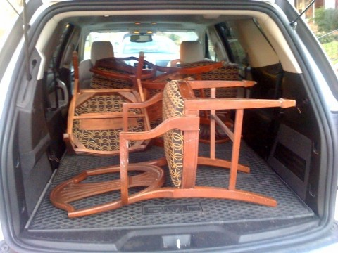 Dining Room Chairs- Back of car